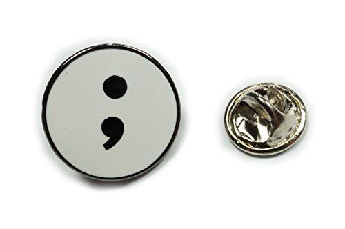 Semicolon Project Suicide Awareness Depression Hat Jacket Tie Tack Lapel Pin]()