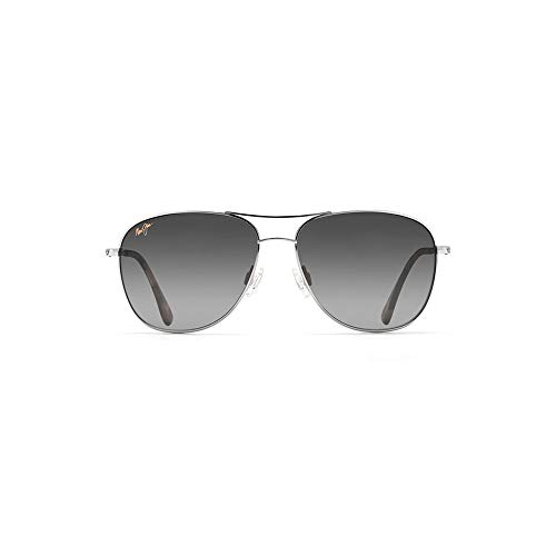 Maui Jim Cliff House GS247-17 | Sunglasses, Silver - Neutral Grey, with with Patented PolarizedPlus2 Lens ()