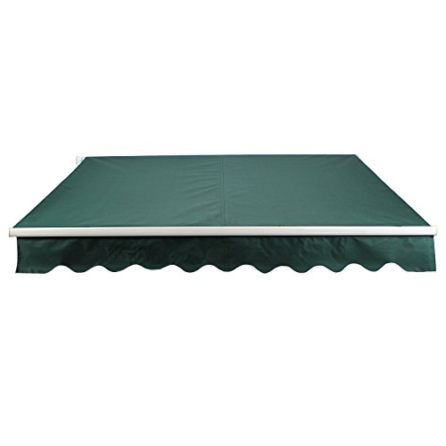 10' x 8' Manual Economy Retractable Shade Canopy Awning Green by Commercial Bargains