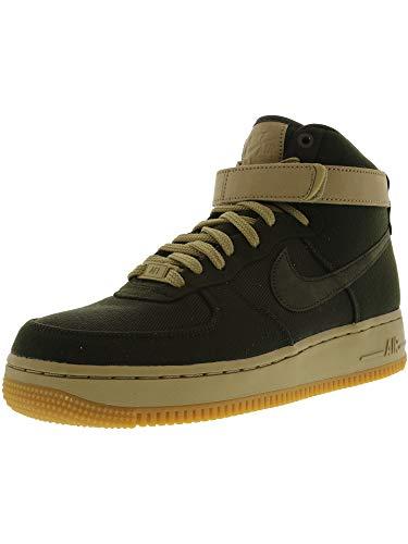 ec6419a4571f9 NIKE Women s Air Force 1 Hi Premium Black Black Gum Med Brown Sail Basketball  Shoe