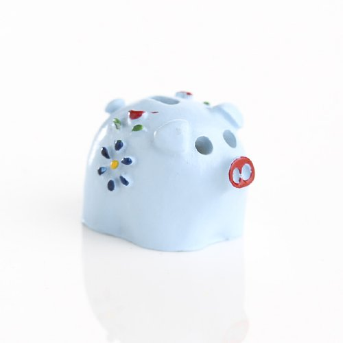 Small Miniature Assorted Color Ceramic Piggy Bank for Dollhouses and Miniature Displays- Package of 2