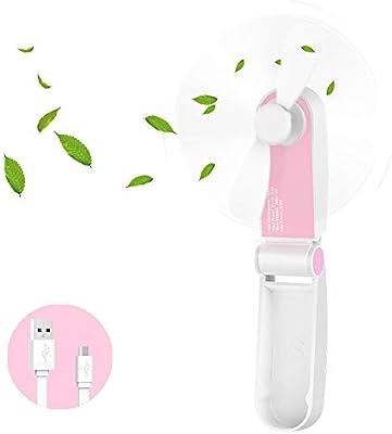 Hianjoo Mini Ventilador USB Portátil Recargable Plegable ...