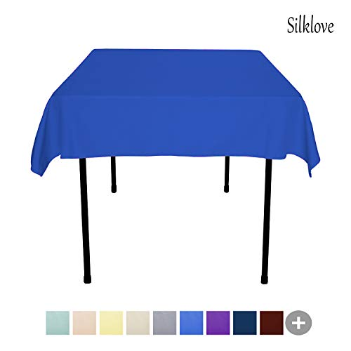 SilkLove Tablecloth - 54 x 54 Inch -Royal Blue-Square Polyester Table Cloth, Wrinkle,Stain Resistant - Great for Buffet Table, Parties, Holiday Dinner & More
