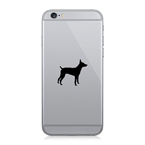 Pair of Rat Terrier Cell Phone Stickers Mobile Dog Canine pet - Matte -