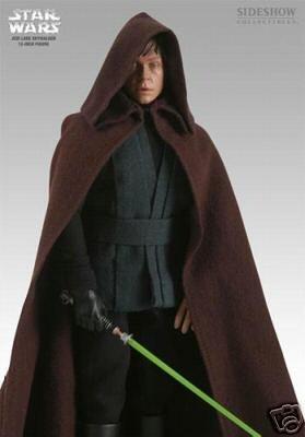 Luke Skywalker Black Costume (Sideshow