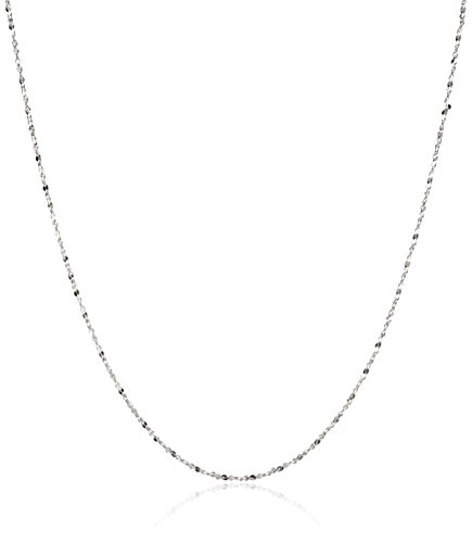 Twisted Serpentine Chain (Sterling Silver 1.2mm Twisted Serpentine-Chain Necklace,)