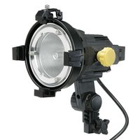 Calumet CF0102 V300 Bravo Photo Video Light with Continuous 3200k Light Output 300w, This portable, lightweight, focusing quartz-halogen lighting unit is ideal for a wide range of video and photographic applications. It provides smooth, continuous beam-angle adjustments for an efficient, (Angle Quartz Wide Light)
