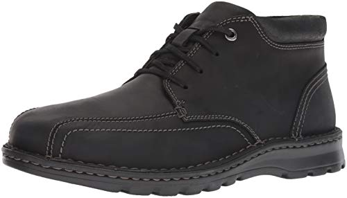 (Clarks Men's Vanek Mid Boot, black leather, 080 M US )