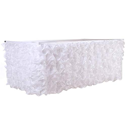 (Tulle Table Skirt for Wedding Table Skirt Decoration Baby Shower Birthday Banquet Party Wedding Table Skirting 275x80cm)