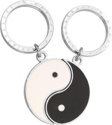 Llavero doble ying-yang.