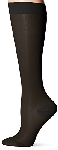 Dr Scholl's DSL7100 Women's 15-20 Hg Sheer Compression Sock Black Medium (Dr Scholls Compression Socks)