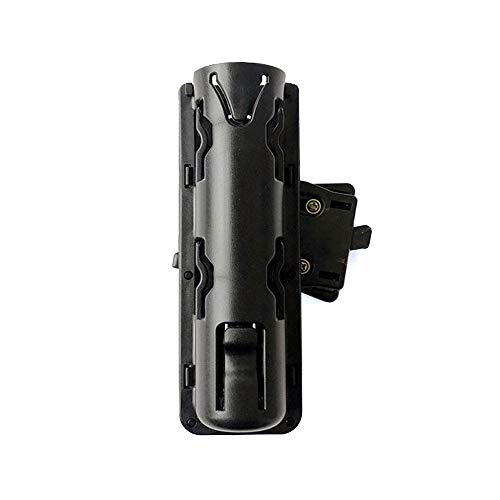 aikeec Baton Holder 360 Degree Rotating Telescopic Baton Pouch, Expandable Baton Holsters,Tactical Swivelling Flashlight Holsters ABS ()