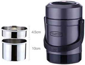 サーマルランチボックス、フードサーモス、2.6L、子供と大人向けのフード、ドリンク、スープ用の断熱ステンレススチールボトル(24時間保温)保温バッグ