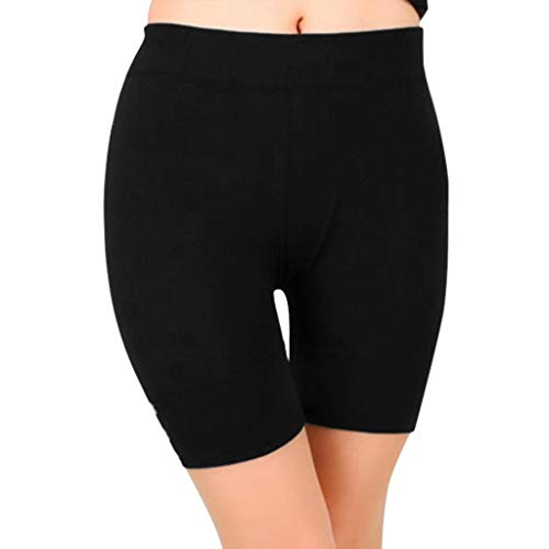(Adeliber Women's Yoga Shorts Fashion Solid Color Buttons Running Sports Fitness Riding Tights Shorts)
