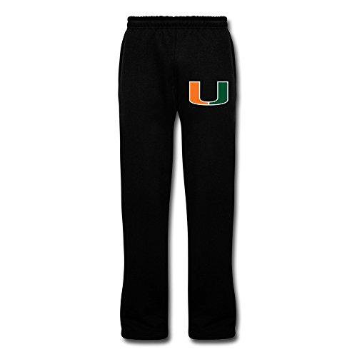 Men's Miami Hurricanes Sweatpants Black L Jersey Pant