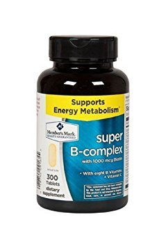 Member's Mark Super B-Complex with Biotin Vitamin B and Vitamin C (1 Bottle (300 Tablets)) (Biotin Super)
