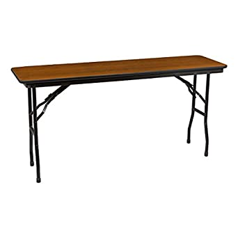 Norwood Commercial Furniture Rectangle High Pressure Laminate Top Folding Training Table 60 W X 18 D Nor Nus1860 So