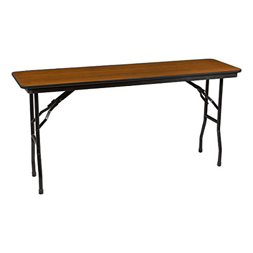 Norwood Commercial Furniture Rectangle High-Pressure Laminate Top Folding Training Table, 60
