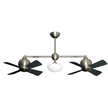 fans wall bronze with star oil rubbed double blades twin control slp fan includes in dual dark finish walnut ii amazon com scroll ceiling arbor