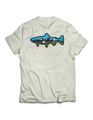 (RIO Products Accessories Mountain Trout Tee, White, x)