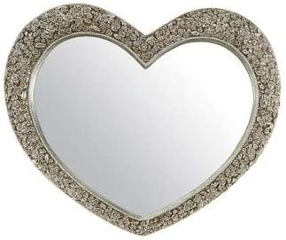 V Large Antique Silver Heart Shaped Wall Mirror 3ft1x3ft7 94cmx109cm Rectangle Amazon Co Uk Kitchen Home