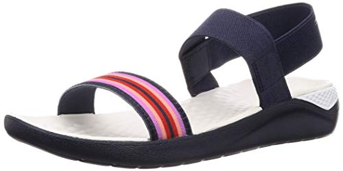 Crocs Women's LiteRide Sandal Flat Color Block/Navy, 8 M US ()