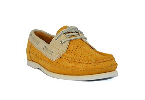 Rockport  Rockport BONNIE PERF BOAT, Chaussures bateau pour femme Jaune Butterscotch M
