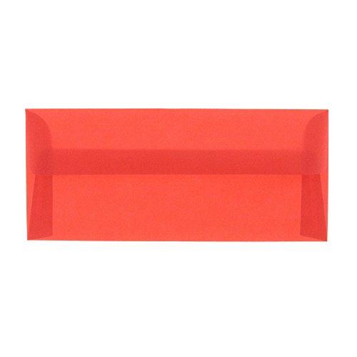 JAM PAPER #10 Business Translucent Vellum Envelopes - 4 1/8 x 9 1/2 - Primary Red - 50/Pack ()