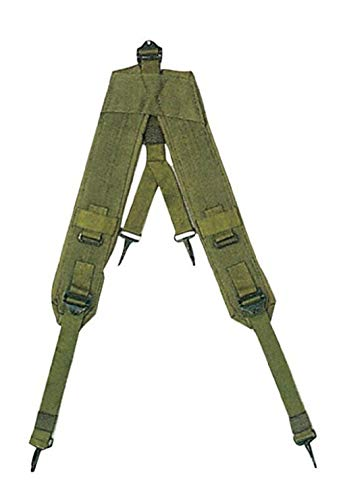 BlackC Sport LC-1 Suspenders Olive Drab GI Style Military Y Style ()