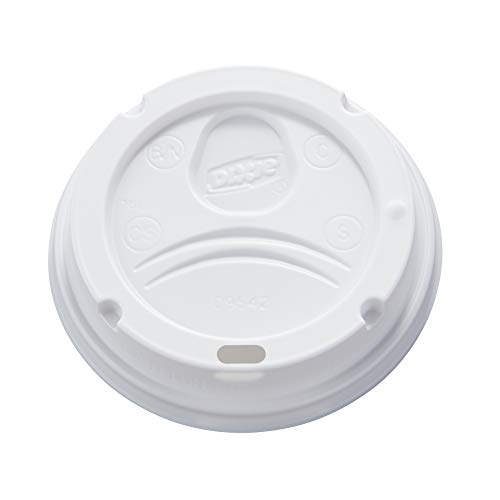 Dixie 10-20 oz. Dome Hot Coffee Cup Lid by GP PRO (Georgia-Pacific), White, 9542500DX, 500 Count (10 sleeves of 50 lids) (Hot Beverage Cup Lid)