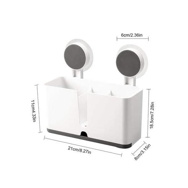 3151w4B5FHL Halterung für Besteck Küchenablage Besteckhalter Spülbecken Organizer Küche Drainer Rack Utensilienhalter zum Aufhängen…
