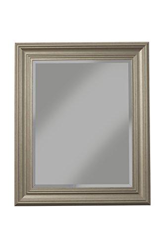 Sandberg Furniture Elegant, 36'' x 30'' Wall Mirror, Antique Silver by Sandberg Furniture