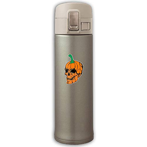 HHFASN Stainless Steel Mug Halloween Skull Bouncing Cover Insulation Vacuum Cup Bottle Stainless Steel Thermos Water Bottle