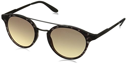 Carrera Ca123s Round Sunglasses, Gray Havana Dark Ruthenium/Dark Gray Gradient, 49 - Carrera Sunglasses Tortoise