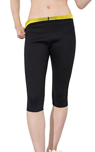 Women Slimming Pants Hot Thermo Neoprene Sweat Sauna Body Shaper Weight Loss Black Leggings by Hisweet