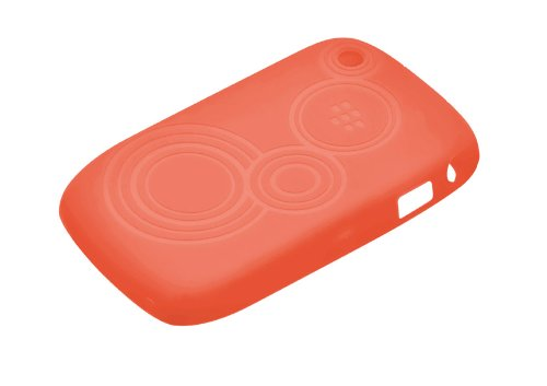 (BlackBerry 8520 Embossed Skin, Butterfly, Coral)