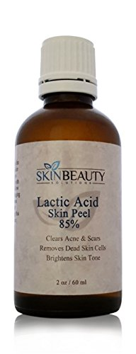 (4 oz / 120 ml) LACTIC Acid 85% Skin Chemical Peel- Alpha Hydroxy (AHA) For Acne, Skin Brightening, Wrinkles, Dry Skin, Age Spots, Uneven Skin Tone, Melasma & More (from Skin Beauty Solutions)