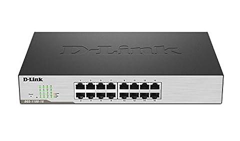 D-Link 16-Port EasySmart Gigabit Ethernet Switch (DGS-1100-16) (Link Aggregation Switch Gigabit)