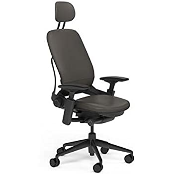 Amazon.com: Steelcase Leap Desk Chair with Headrest Black Leather ...