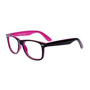 Outray Unisex Retro 80' Clear Lens Glasses 2231C7 Pink