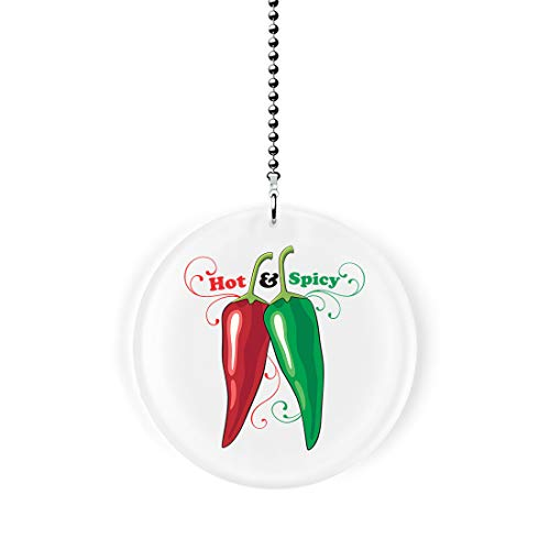 Hot and Spicy Chili Peppers Fan/Light Pull