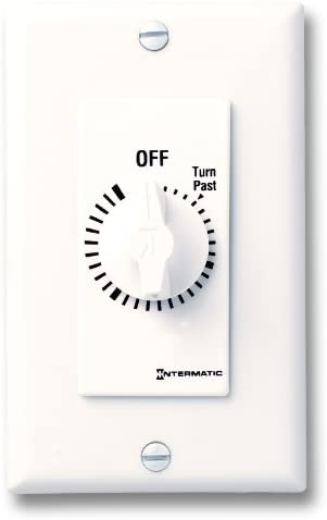 Intermatic FD5M 5-Minute Spring-Loaded Automatic Shut-Off in-Wall Timer for Fans and Lights Ivory
