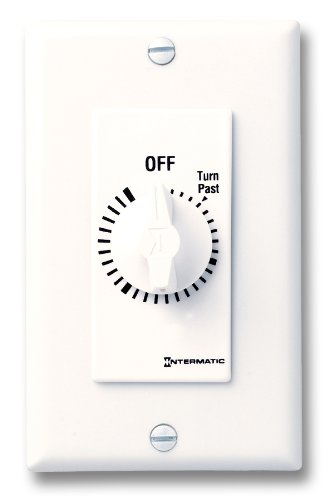 UPC 078275185814, Intermatic FD34HW 4-Hour Spring-Loaded Wall Timer for Lights and Fans, White