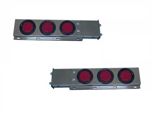 CPW (tm) Stainless Steel Mud Flap Hanger with LED Lights Cutouts Spring Loaded 2 1/2 Pattern (Led Mud Flap)
