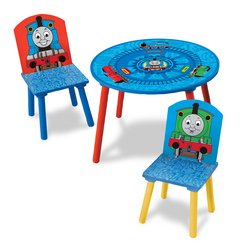 Thomas The Tank Engine Wooden Table And 2 Wooden Chairs