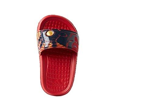 Kids Adidas Disney Marvel Avengers Slide (6, Iron Man - Red, Navy, Gold) (Adidas Water Slides)