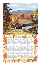Linen Calendar Towel 2020 Covered Bridge Kaydee Designs (F3221)