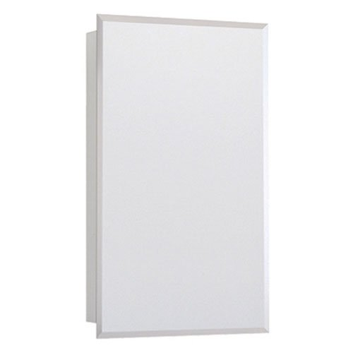 Rsi Home Products CBS1626-BM-R Aluminum Bevel Mirror Swing Door Medicine Cabinet, 16'' Width x 26'' Height by RSI Home Products