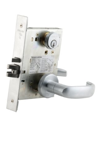 Schlage L9050P 17L 626 C123 Keyway Series L Grade 1 Mortise Lock, Office Function, C123 Keyway, 17L Design, Satin Chrome Finish by Schlage Lock Company