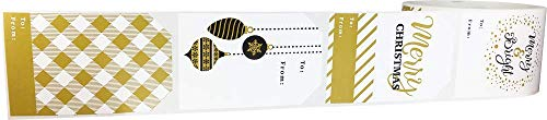 Christmas Gift Tags Holiday Present Stickers Merry & Bright 4 Different Designs 2 x 3 Inch 100 Total Labels Photo #2